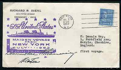 USA: (14209) S.S. UNITED STATES Paquebot cancel/cover