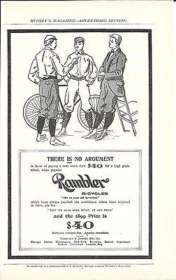 1899 Rambler Bicycles There Is No Argument Ad