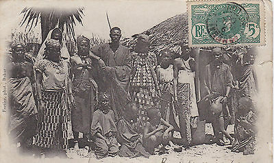 Senegal,Afrika occidental,Familie Lahobé,Lichtdruck,1908,Frankatur!Strohhütte