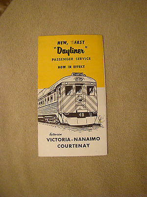 """Canadian Pacific """"Dayliner"""", Victoria to Nanaimo to Courtenay, New Service"""