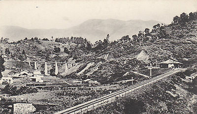 Südafrika,Wellington Railway-Station and bridge,Lichtdruck um 1900,bahnhof,Dorf