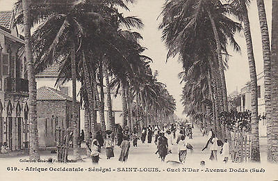 Sénégal,Afrique occidentale,Saint Louis,Guet N`Dar,Av.Dodds,Lichtdruck um 1910