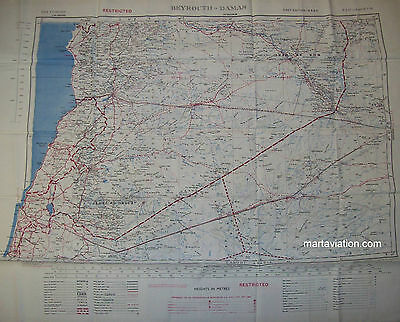 Vintage Double Sided 1950`s Royal Air Force Aircrew Escape Map (129)