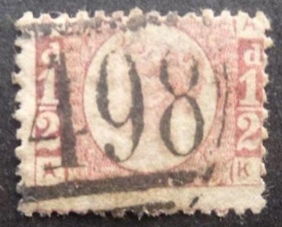 Q.V. 1/2d (Plate 20.) stamp - used.