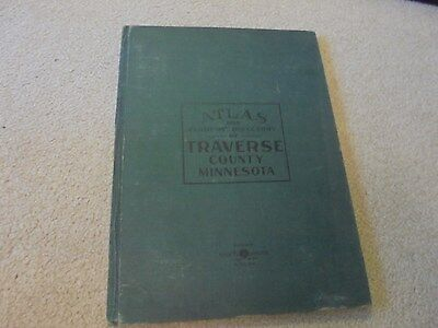 Vintage 1915 Traverse County Minnesoa Plat Book Wheaton, Dumont, Browns Valley