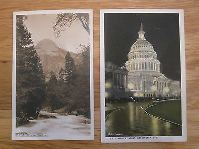 5 x Vintage  Postcards : USA, Canada & South Africa