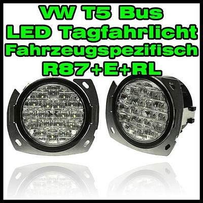 VW T5 Bus LED running light vehicle specific round Daytime running lights white