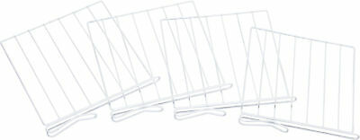 Shelf Divider for Wood Shelves Set of 4, white
