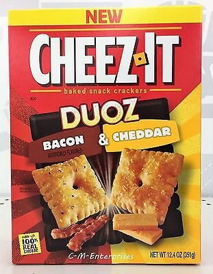 Cheez It Duoz Crackers Bacon & Cheddar Baked Snack Crackers 12.4 oz