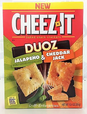 Cheez It Duoz Crackers Jalapeno & Cheddar Jack Baked Snack Crackers 12.4 oz
