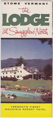 1959 Smuggler's Notch Lodge Stowe Vermont  Brochure