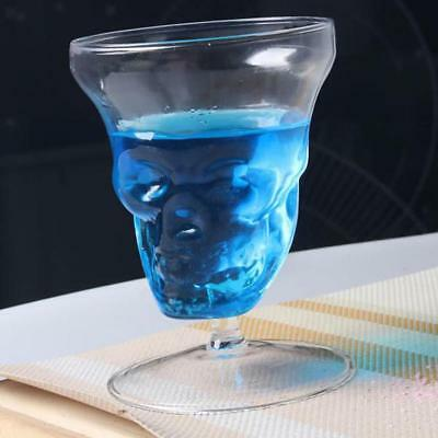 Clear Vodka Transparent Skull Whiskey Cocktail Beer Drinking Glass Decanter Cup