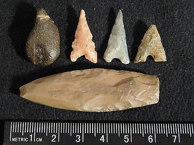 Lot of 100% Authentic Ancient North African Artifacts and Arrowheads! 1.45