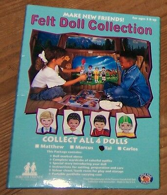FOREVER FRIENDS Felt 'Paper' Doll Collection TAI wOutfits,Story & RoomScene NIP