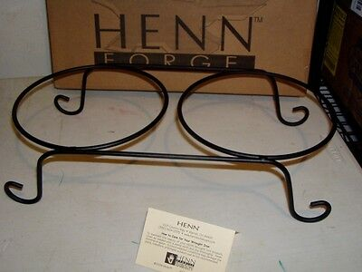 Henn Pottery Wrought Iron Duet Serving Stand $30 1032 Last Ones FINAL SALE pie