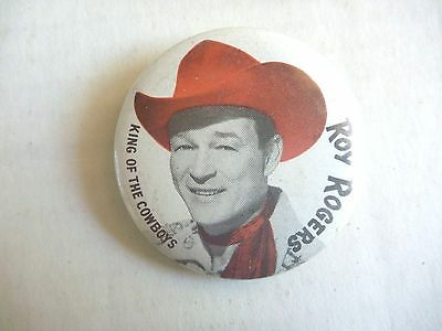 ROY ROGERS TV Cowboy AUSSIE Pinback 1960S LINDSAYS LEICHHARDT KING OF COWBOYS!!!