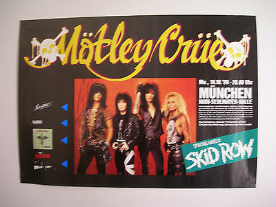 Motley Crue Concert Tour Poster 1989 Dr Feelgood Autographed By Nikki Sixx