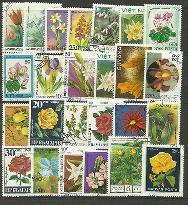 FLOWERS Collection Packet 25 Different Stamps (Lot 1)