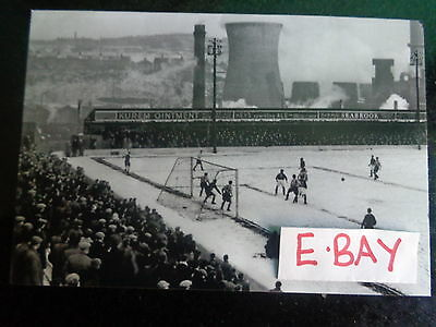 "BRADFORD CITY v BRENTFORD match action 1955 FA CUP  6""x4""  REPRINT"