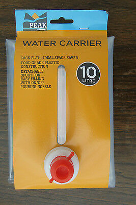 10 Litre Water Carrier Packs Flat For Easy Storage Caravan Camping Fishing