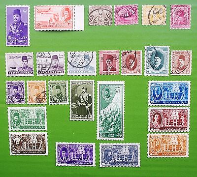 EGYPT - 1880-1949 Collection of Used, MH, & MNH Stamps.