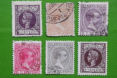 PUERTO RICO - 1899 Collection of Used & MH Stamps