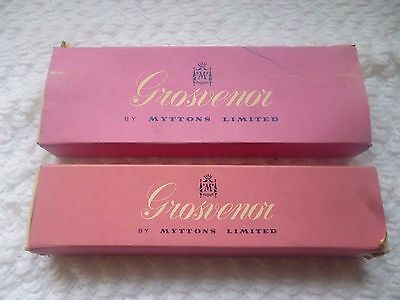"""Vintage Grosvenor By Myttons Limited 2 Boxed Sets Of Spoons & Forks """"flamenco"""""""