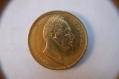 RARE 1831 GOLD SOVEREIGN with no stops to ww