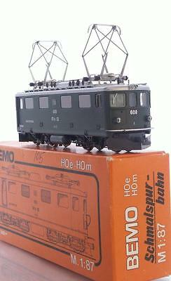 "BEMO 1050 HOe N GAUGE - SWISS RhB Ge 4/4 ELECTRIC LOCOMOTIVE 608 ""MADRISA"""