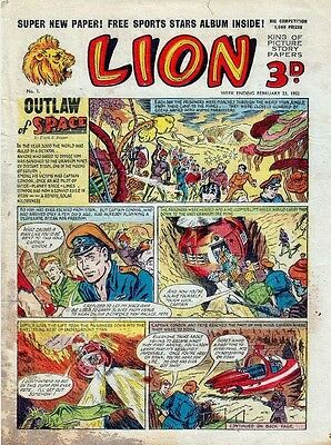 Uk Comics Lion Collection 600+ Comics On Dvd From 1952-1974 Plus Annuals