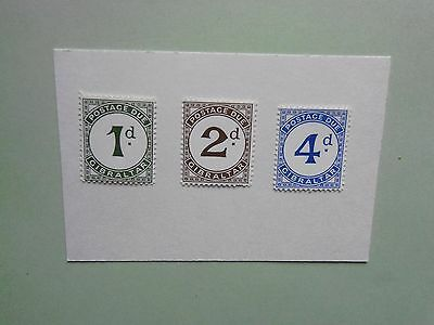 GIBRALTAR: 1956 Postage Dues (1st issue) 3values MNH SgD1/D3