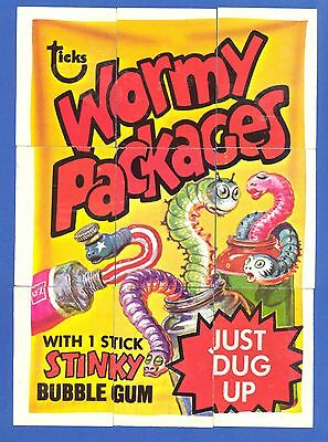 1974 Topps Wacky Packages O Pee Chee OPC 4th Series Comp. Checklist Puzzle 9/9