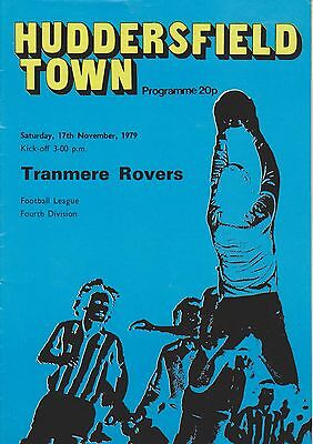 HUDDERSFIELD TOWN v TRANMERE ROVERS 79-80 LEAGUE MATCH