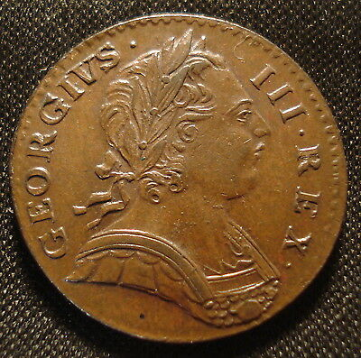 Excellent 1773 George Iii Farthing We Grade Uncirculated Superb Example