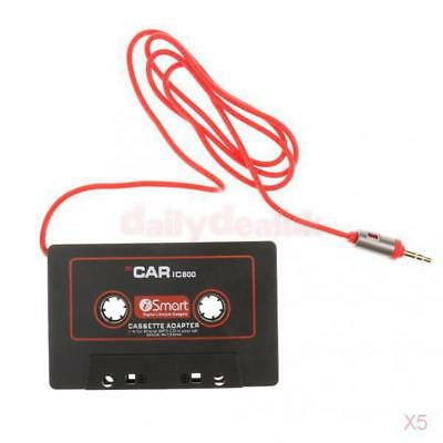5x Cassette Car Stereo Tape Adapter for iPod iPhone MP3 AUX CD Player 3.5mm