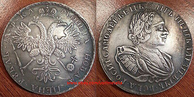 1721 Russia Rouble Not Silver Russian Tsar Peter the Great Medal Coin Token Gift