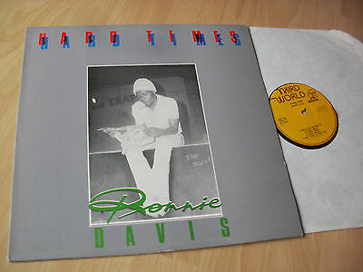 LP RONNIE DAVIS - HARD TIMES / 1977 uk-THIRD WORLD first-press NEAR MINT