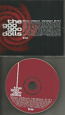 GOO GOO DOLLS Dizzy Rare 1TRK PROMO Radio DJ CD Single USA 1998 MINT procd9603
