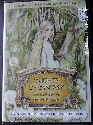 Crafter's Companion Flights of Fantasy Morgan Fitzsimons Twin Papercrafting CDs.