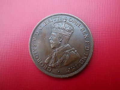 Australia Penny 1924 In Good Condition All Diamonds 8 Pearls A Good Coin