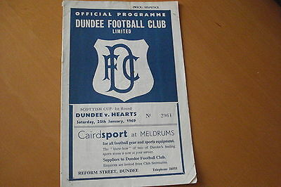 Dundee V Heart Of Midlothian (Hearts)             Scottish Cup           25/1/69