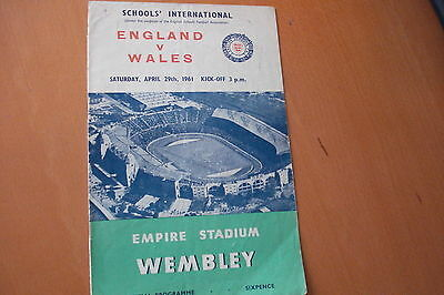 England V Wales                 Schoolboys International                 29/4/61