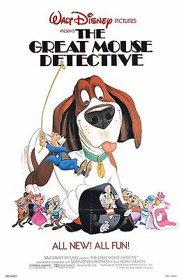Basil The Great Mouse Detective Laminated Mini Movie Poster Disney A4 Print