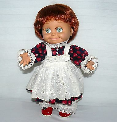 Galoob T.g.l.i. So Shy Sherrie 13 Inch Doll Baby Face Htf Red Hair Green Eyes