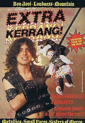 ARMORED SAINT / METALLICA / SMALL FACES / SISTERS OF MERCY Kerrang Extra no. 6