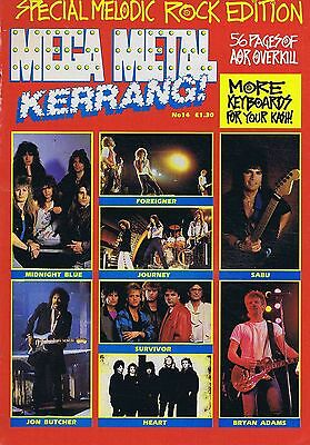 BRYAN ADAMS / JON BUTCHER / SABU / MIDNIGHT BLUE Mega Metal Kerrang no. 14