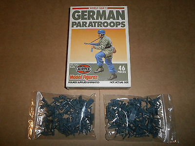 2 x Airfix 01753 WWII German Paratroops (Incomplete, pre-cut, 1 x box)