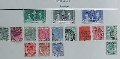 16 of Gibraltar stamps up to 1937