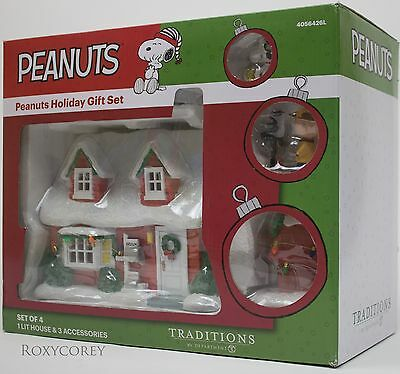 Peanuts Traditions by Department 56 Charlie Brown Place House Holiday Gift Set