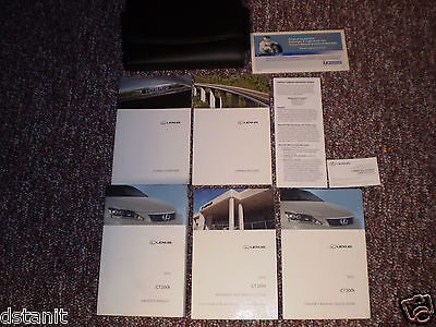 2012 LEXUS CT200h COMPLETE CAR OWNERS MANUAL BOOKS GUIDE CASE ALL MODELS